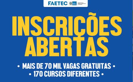 Inscrições FAETEC 2022